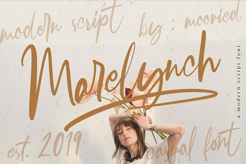 Marelynch手写手绘签名艺术连笔英文字体下载