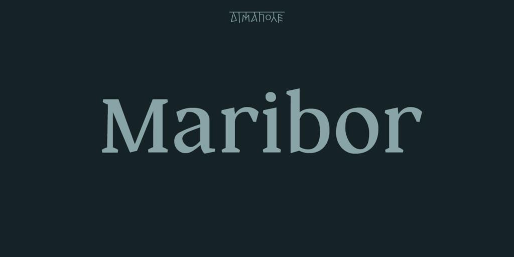 Maribor个性创意logo衬线英文字体下载