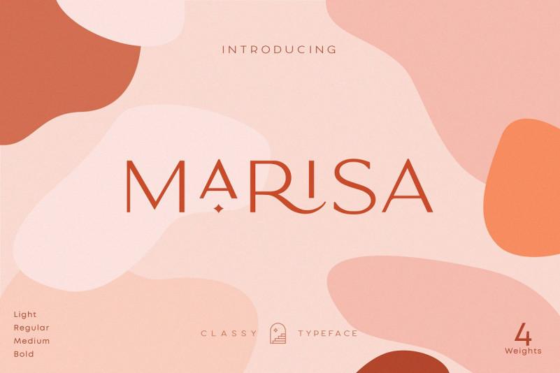 Marisa现代文艺设计师logo英文字体下载