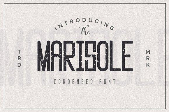 Marisole复古无衬线logo时尚英文字体下载