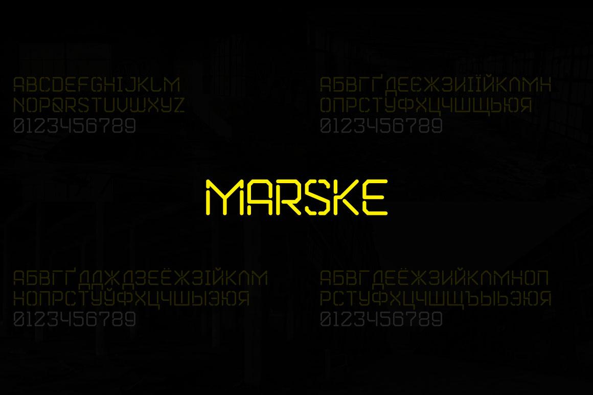 Marske个性创意logo设计英文字体下载