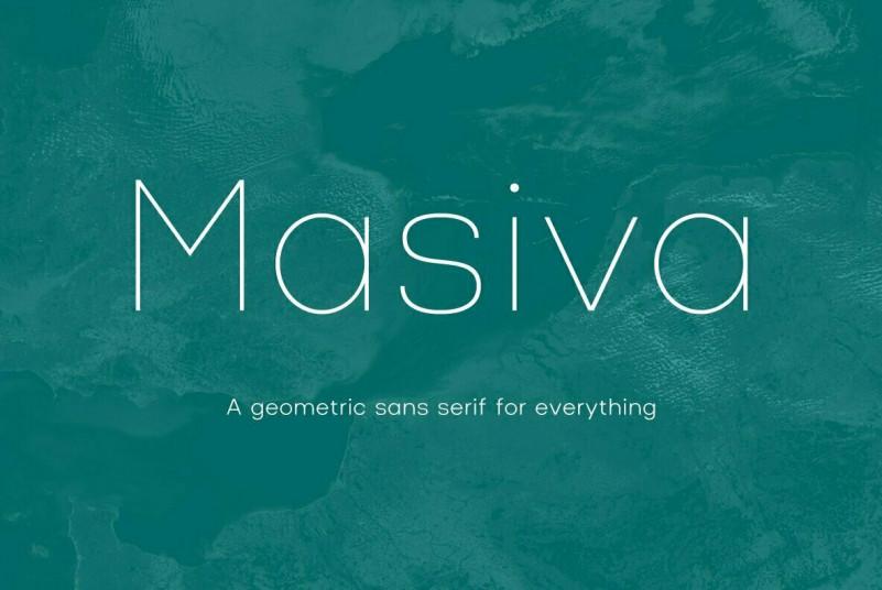 Masiva现代极细logo英文字体下载