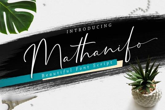Mathanifo网站电商个性手写海报英文字体下载
