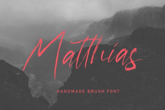 Matrouh笔触线条现代手写英文字体下载