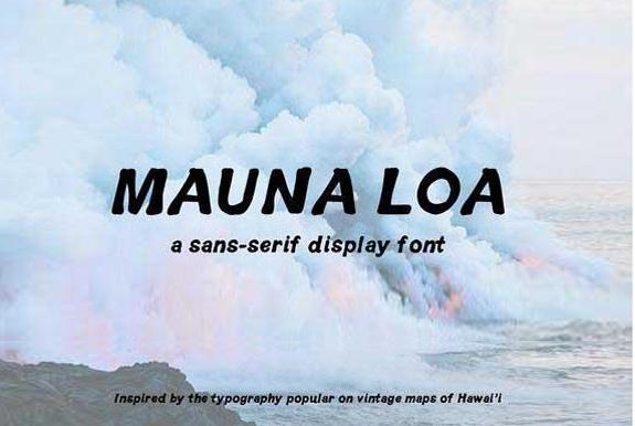 MaunaLoa手写手绘艺术英文字体下载