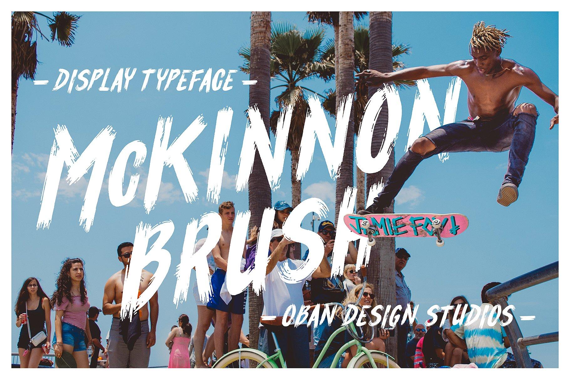 McKinnon时尚电商摄影海报手写英文字体下载
