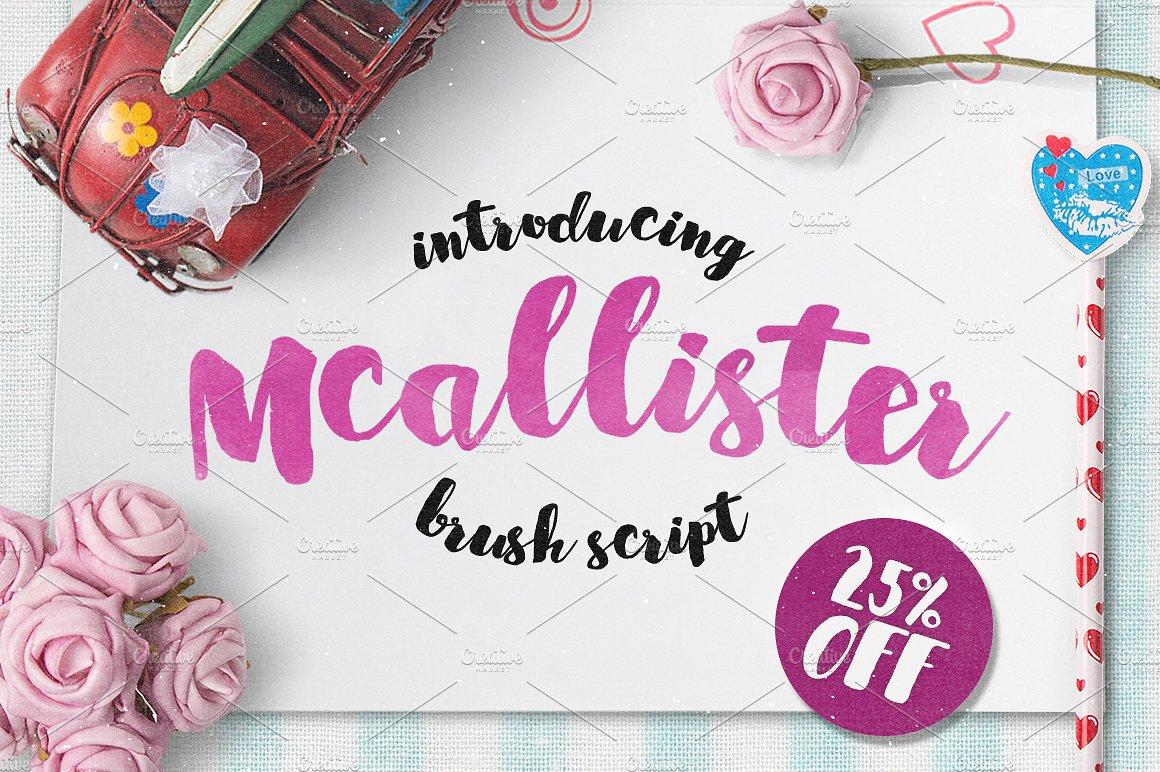 McallisterLayerform手绘手写包装摄影海报英文字体下载