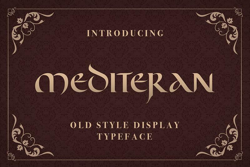 Mediteran现代艺术logo英文字体下载