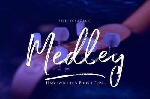 Medley手写笔触纹理手绘英文字体下载