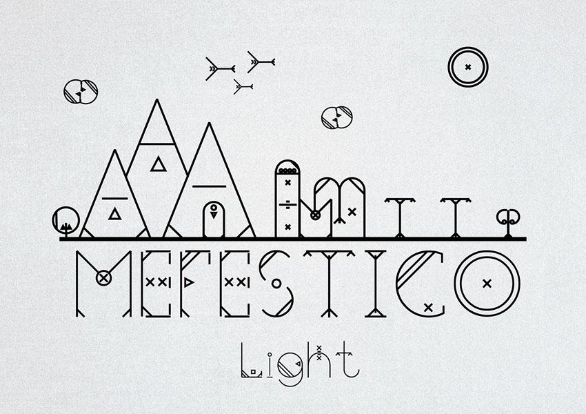 Mefestico个性创意手写logo趣味英文字体下载
