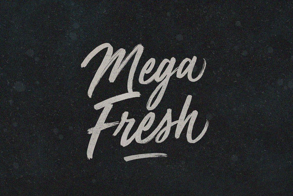 MegaFresh书法手写笔刷英文字体下载