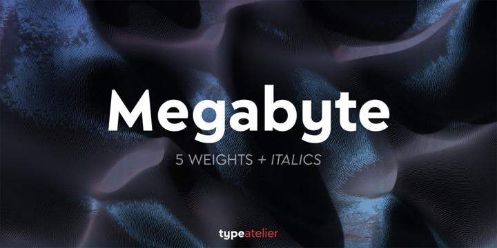 Megabyte无衬线现代英文字体下载