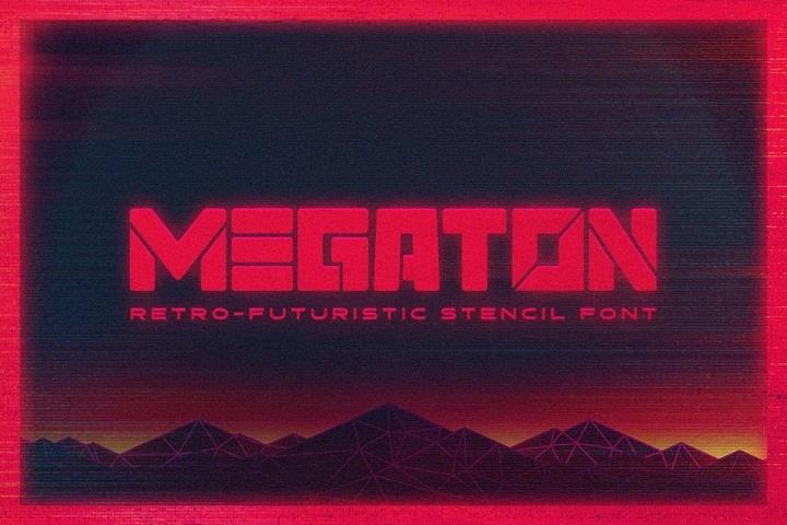 Megaton个性无衬线logo设计英文字体下载