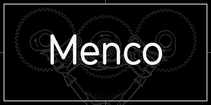 Menco圆润现代简洁名片logo英文字体