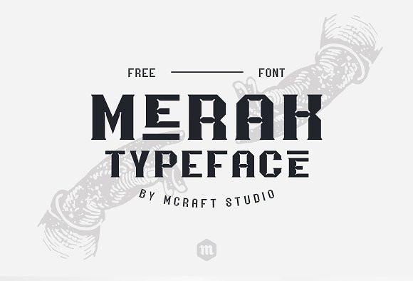 Merak复古简约个性化海报英文字体下载