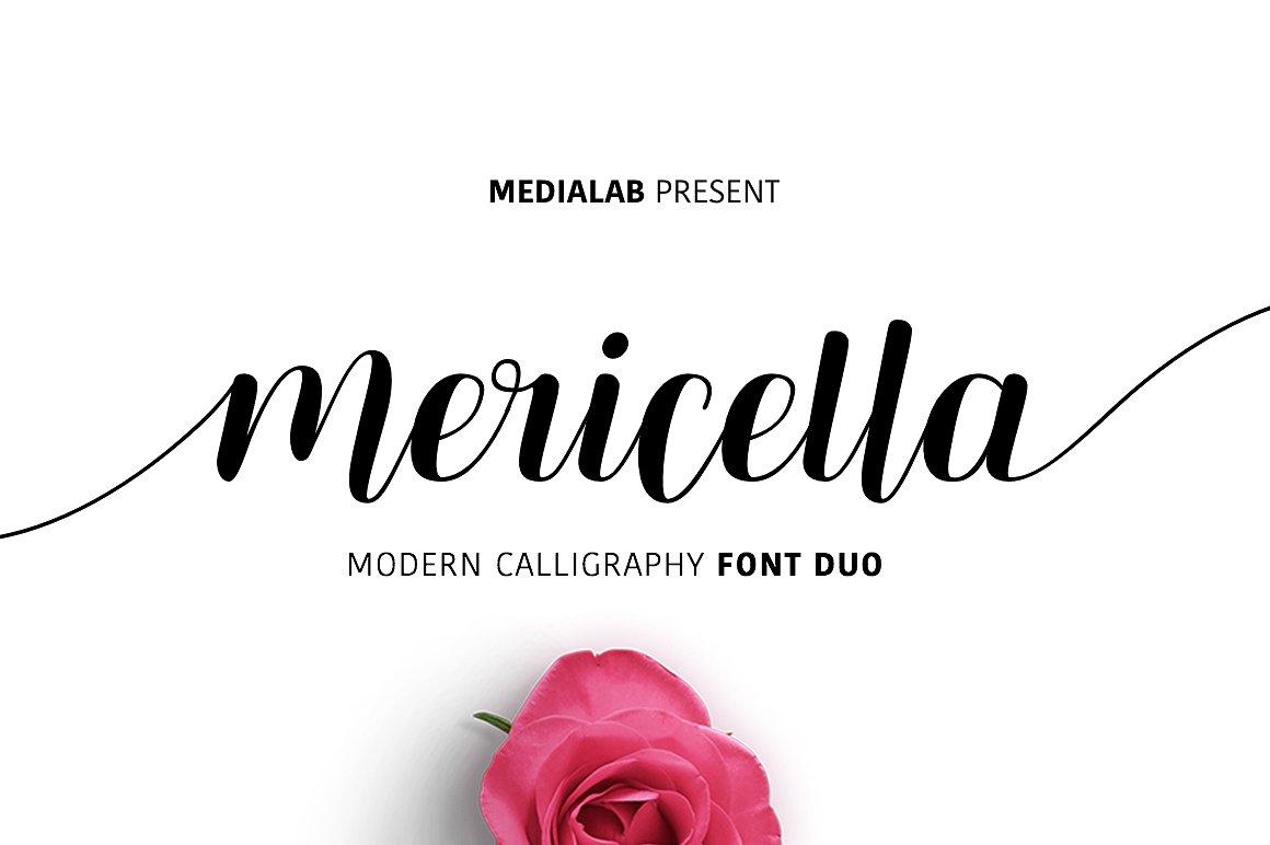 Mericella飘逸手写连笔花式英文字体下载