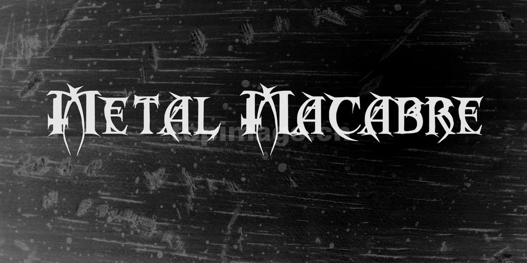 MetalMacabre哥特式游戏海报英文字体下载