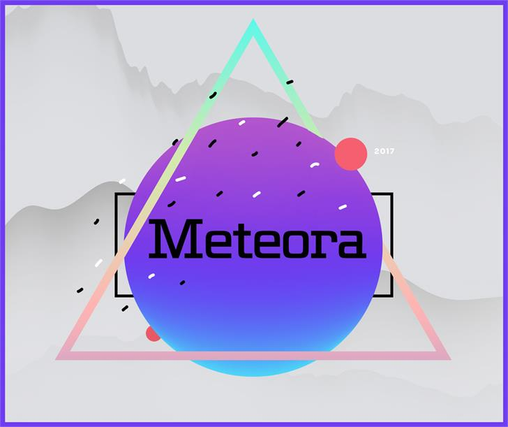 Meteora简约现代创意logo英文字体下载