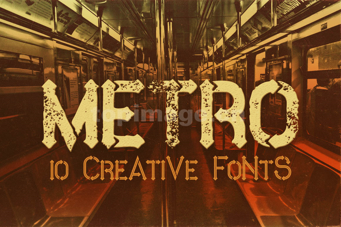 MetroGrunge简约个性斑驳质感艺术英文字体下载