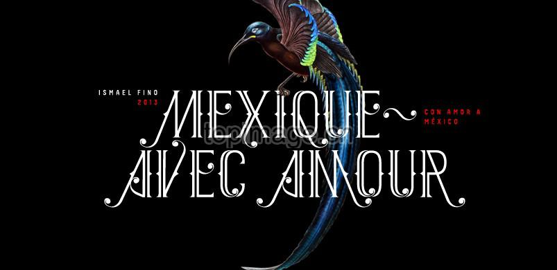 Mexique个性英文字体设计纹身哥特式风格英文字体下载