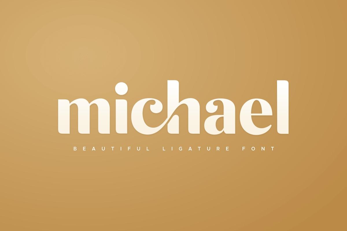 Michael好看的衬线设计英文字体下载