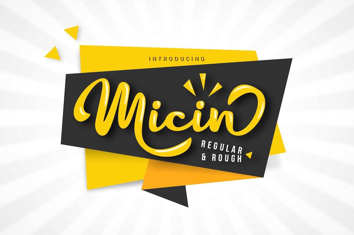Micin手写手绘英文字体下载