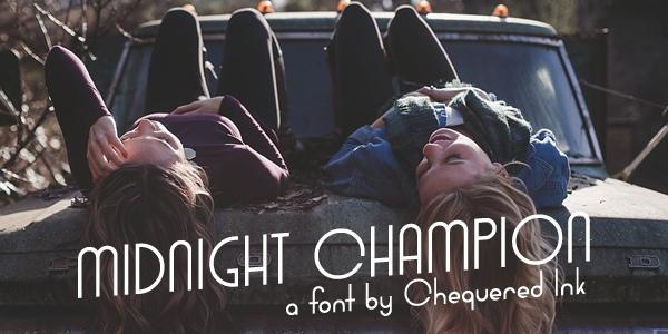 Midnight Champion现代简洁logo英文字体下载