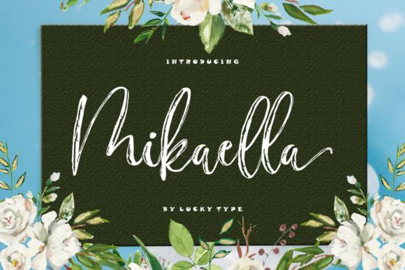 Mikaella笔触纹理水笔英文字体下载