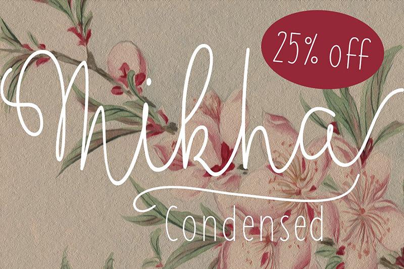 Mikha Condensed花式连笔手写英文字体下载
