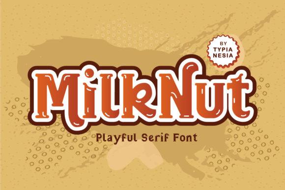 Milk Nut卡通可爱手写英文字体下载
