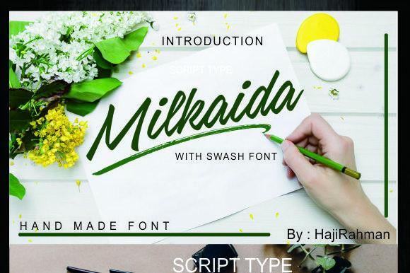 Milkaida手写画笔英文字体下载