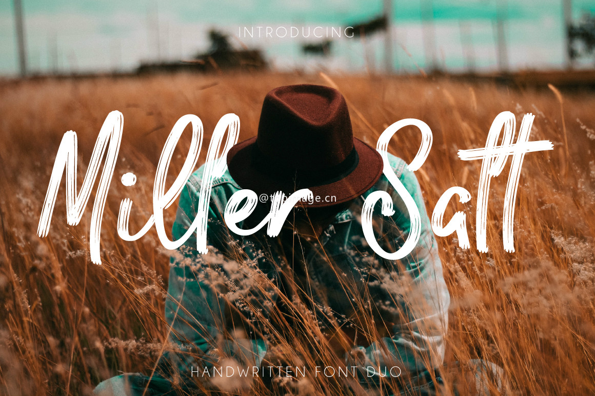 Miller&Salt帅气笔刷手写连笔海报英文字体下载