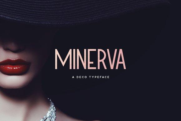 Minerva现代装饰英文字体下载