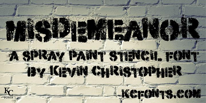 Misdemeanor街头涂鸦破损手绘英文字体下载