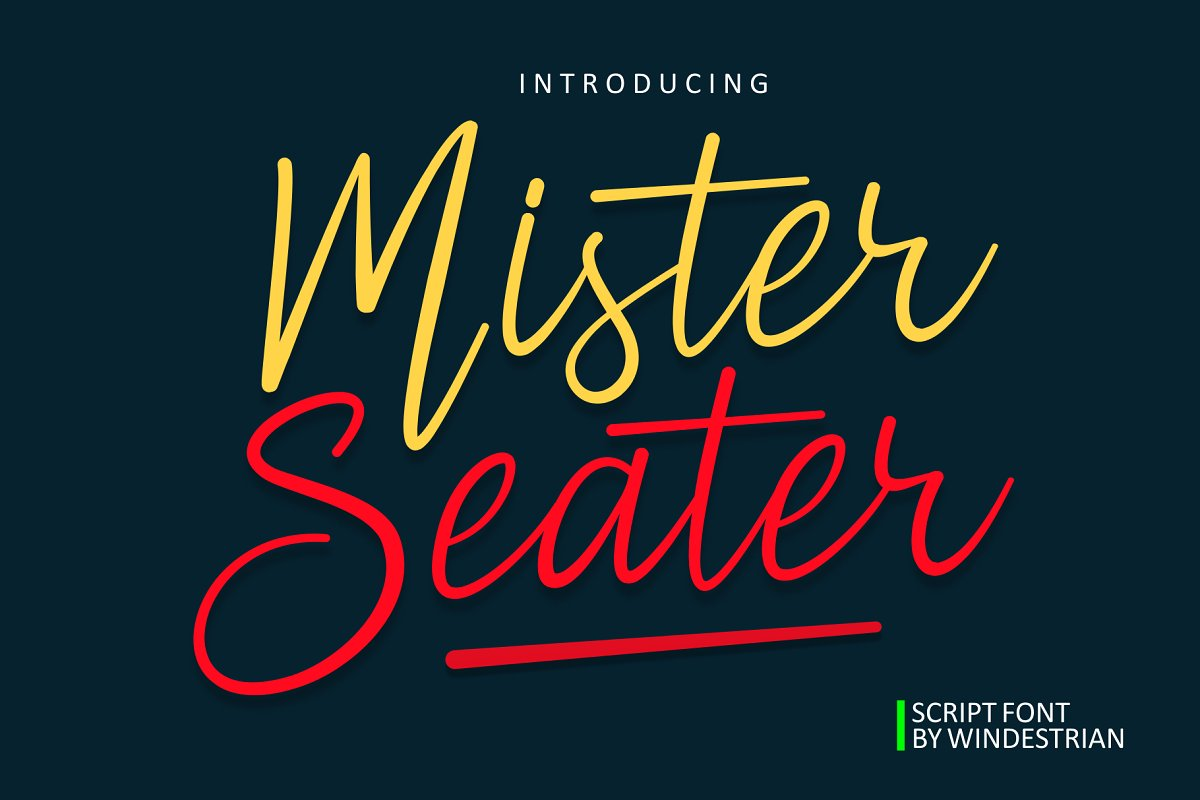 MisterSeater手写手绘连笔英文字体下载