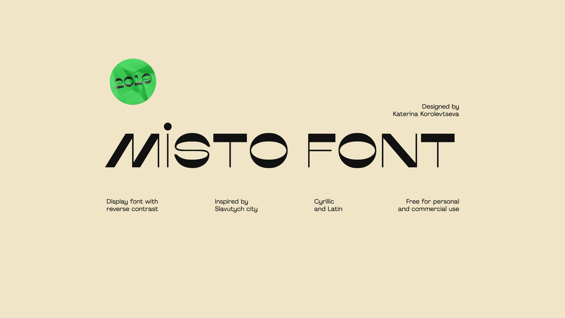 Misto创意设计英文logo字体下载