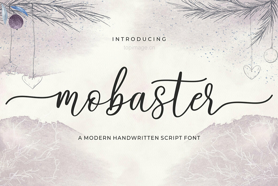 Mobaster婚纱摄影海报花式手写笔刷英文字体下载
