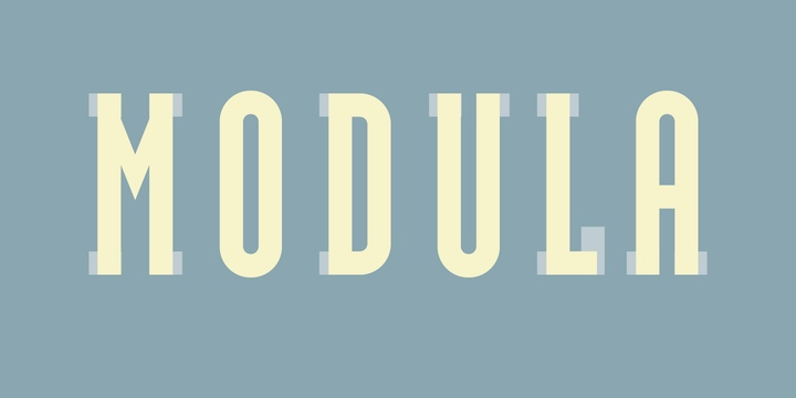 Modula现代简洁logo英文字体下载