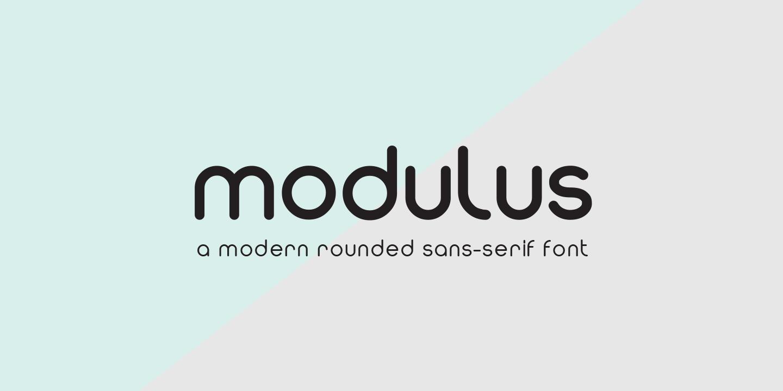 Modulus现代圆润精致logo英文字体下载
