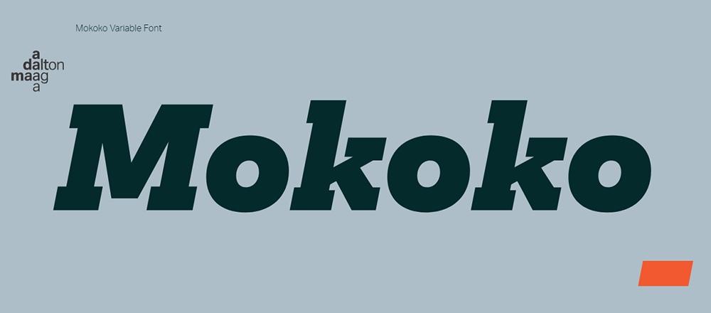 Mokoko现代无衬线等宽logo排版设计英文字体下载