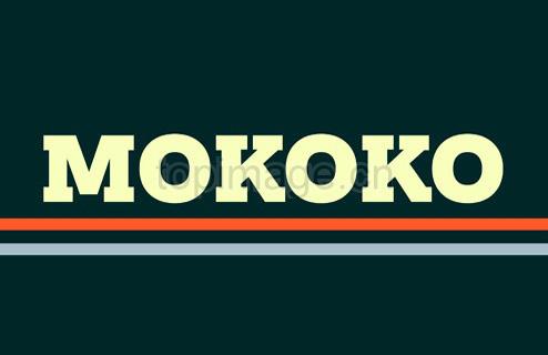 Mokoko1现代衬线海报粗细英文字体下载