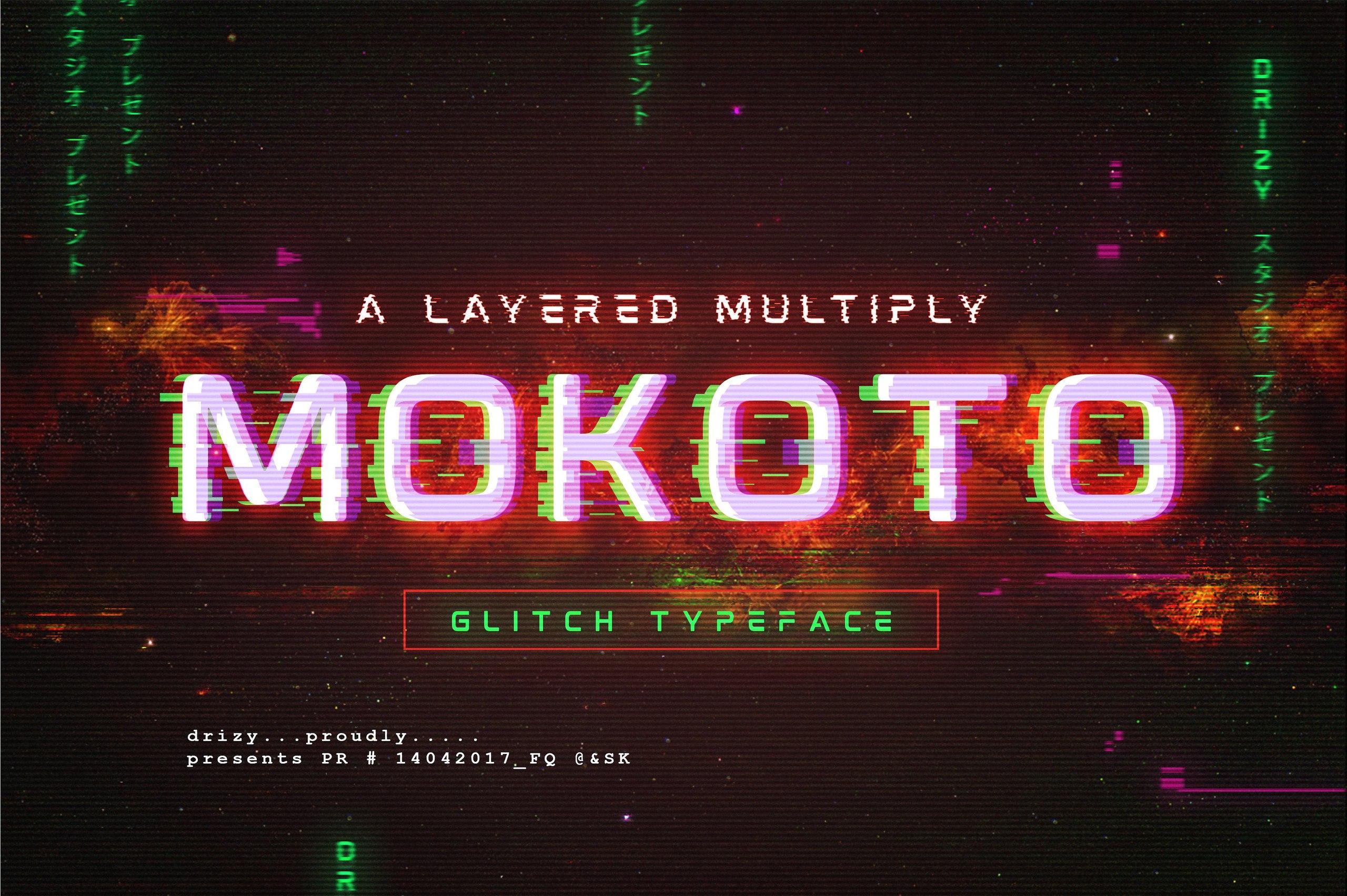 Mokoto科技风抖音网红个性英文字体下载