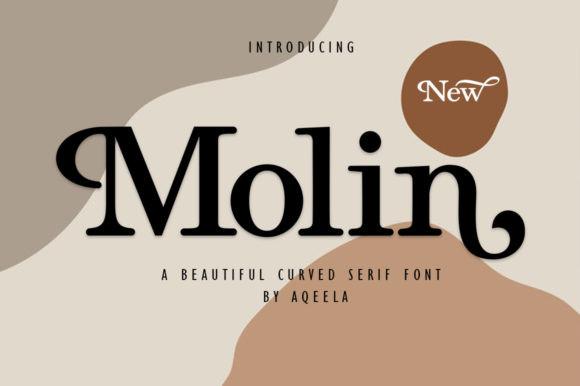 Molin衬线创意个性logo设计英文字体下载