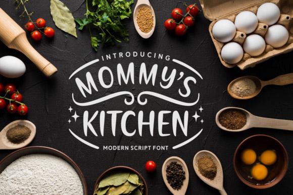 Mommys Kitchen 手写手绘菜单英文字体下载