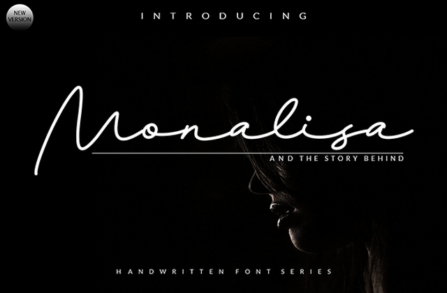 Monalisa手写连笔ins网红签名艺术字体下载