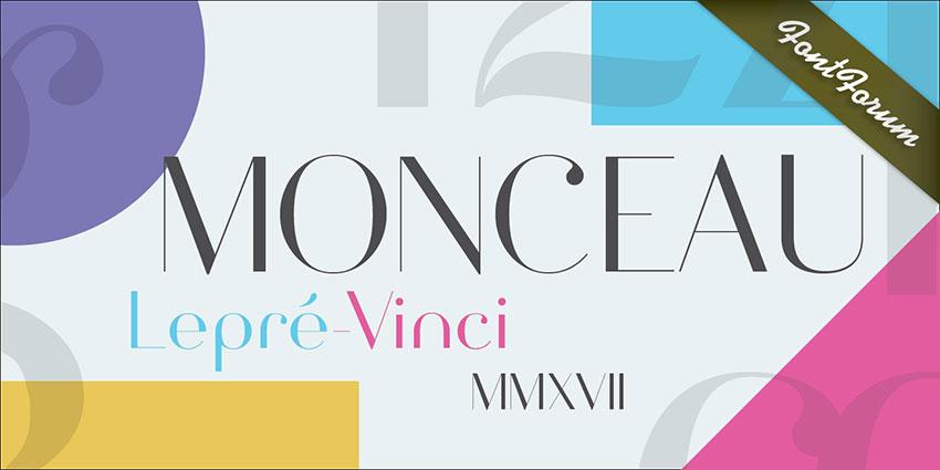 Monceau现代简洁无衬线设计logo英文字体下载