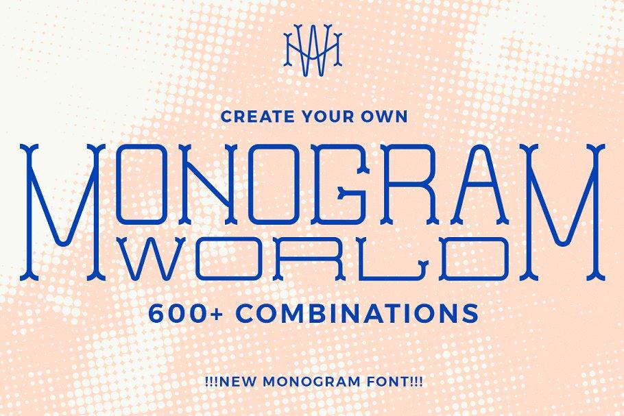 MonogramWorld个性logo创意英文字体下载