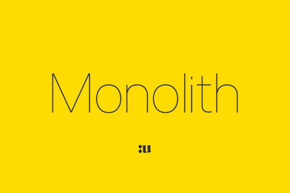 Monolith现代极简洁设计logo科技纤细英文字体下载