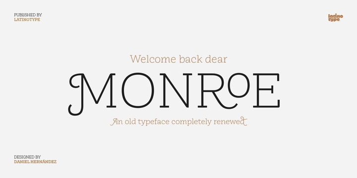 Monroe衬线logo极细英文字体下载