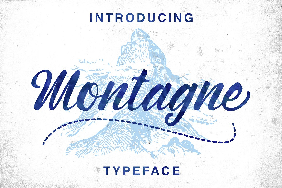 Montagne手写连笔时尚好看的英文字体下载